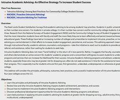 case studies academic advising