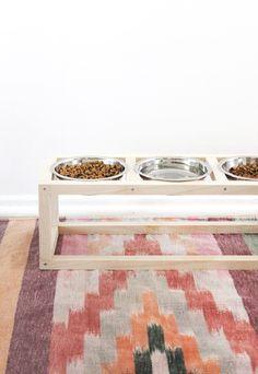 diy modern pet bowl stand