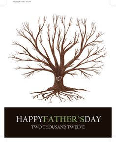 Father's Day Gift! Use your child's handprints or feet prints for the leaves with stamps! Print yourself!!