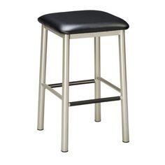 """Regal 24"""" Bar Stool Finish: Anodized Nickel, Upholstery: Cherry Wood, Seat Height: 24"""""""