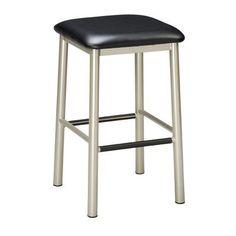 "Regal 24"" Bar Stool Seat Height: 24"", Upholstery: Mahogany Wood, Finish: Clear"