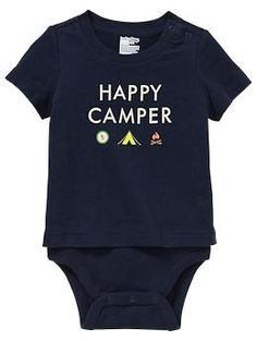 Happy Camper   Camping graphic body double   Gap