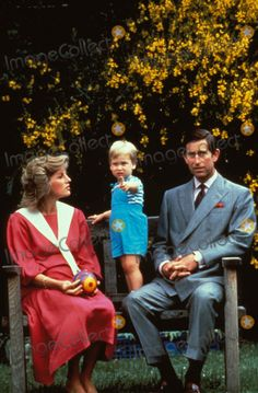 June 12, 1984: Prince Charles and Princess Diana with two year-old, Prince William at a photocall in the garden of Kensington Palace, London. Photo by Alpha-Globe Photos
