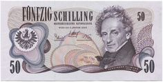 Austria Kronen and Schillings banknotes for sale. Dealer of quality collectible world banknotes, fun notes and banknote accessories serving collectors around the world. Over 5000 world banknotes for sale listed with scans and images online. 90s Childhood, Childhood Memories, Rare Coins, Austria, Money, History, Retro, Banknote, Ferdinand
