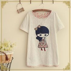 Buy 'Fairyland – Short-Sleeve Girl Appliqué T-Shirt' with Free International Shipping at YesStyle.com. Browse and shop for thousands of Asian fashion items from China and more!