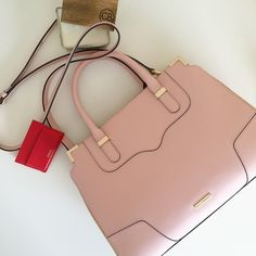 [ • • HP • • ] Rebecca Minkoff Amorous Satchel Rebecca Minkoff Amorous satchel in Quartz (pastel pink). Gold hardware. Middle zipper inside. Side zipper inside with one pocket. Other side in the inside has two pockets. Comes with dust bag. Comes with shoulder strap. Top clasp closure. Zipper detail on sides. Length: ~13.5 in height:~10 in depth: ~5.5 in. No trades.  No paypal. Instagram: @Jhennay262 Rebecca Minkoff Bags