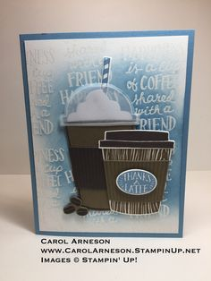 Stampin' Up! Coffee Café Photopolymer Bundle 145331 www.CarolArneson.stampinup.net