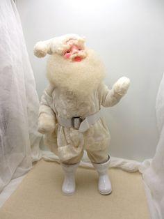 Wonderful Winter White Santa. Vintage All White Santa figurine by Harold Gale, 1950s 1960s