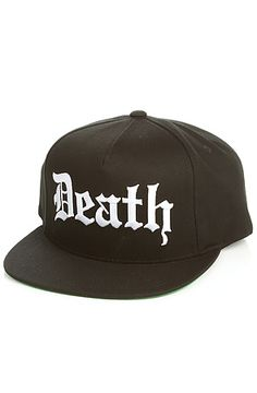4ffd6ea0f05 The Neighborhood Death Snapback Hat in Black Snapback Hats