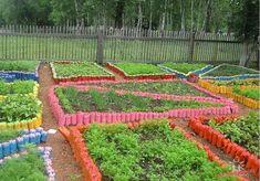 How to beautifully design your garden beds. 60 stunning ideas How to beautifully design your garden Garden Deco, Vegetable Garden, Tropical Landscaping, Backyard Landscaping, Reuse Bottles, Plastic Bottles, Landscape Design, Garden Design, Recycled Garden