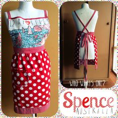 Retro Apron by Spence Australia. Stitched by Spence herself!