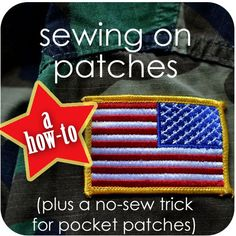 Sewing on patches