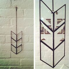 chevron arrow stained glass prism