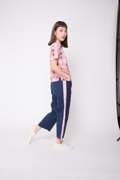 The delicate and whimsical floral print goes with any plain bottom for effortless pairing! Casual Dresses, Floral Prints, Delicate, Dressing, Normcore, Brown, Pink, Shirts, Color