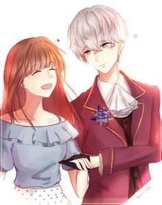 Saeran and MC || Mystic Messenger