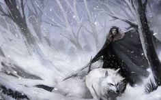 gameofthrones-fanart: Stunning Cover Art of Jon Snow and Ghost by failstarforever Eddard Stark, Arya Stark, Jon Snow, Game Of Thrones Wallpaper, Sweet Games, Game Of Thrones Art, Jaime Lannister, Sansa, Winter Is Coming