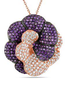 On ideeli: AMOUR C.Z. 10 TCW Flower Designe Pendant Necklace