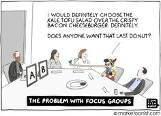 """""""The correlation between stated intent and actual behavior is usually low and negative,"""" HBS Professor Gerald Zaltman wrote in his classic textbook, How Customers Think. Year ago I took Zaltman's c… Latest Cartoons, Focus Group, Thought Bubbles, Keynote, Textbook, Content Marketing, Toms, Family Guy, Social Media"""