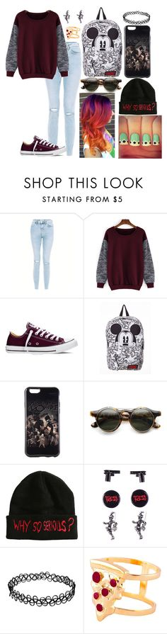 """""""yfdcvbj"""" by annie-hall-barton ❤ liked on Polyvore featuring Converse and Glenda López"""