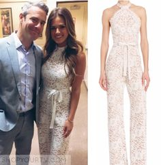 Live With Kelly: May 2015 Jojo's White Lace Jumpsuit
