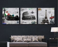 3 P Free Shipping Hot Sell Modern Wall Painting Paris Roman Landscape Home Decorative Art Picture Paint on Canvas Prints FT/139