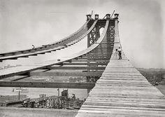 1908 Manhattan Bridge Temporary Walkway