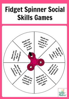 The Middle School Counselor These fidget spinner social skills games are great for children to practice social skills. These counseling activities can be used by parents, teachers and counselors. They are a nice addition to any social skills lessons. Social Skills Lessons, Social Skills Activities, Teaching Social Skills, Counseling Activities, Social Emotional Learning, Coping Skills, Learning Activities, Social Games, Life Skills