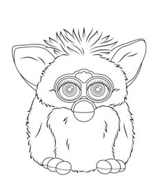 furby cartoon coloring pages | furby coloring pages | Furby Boom - a new generation is ...
