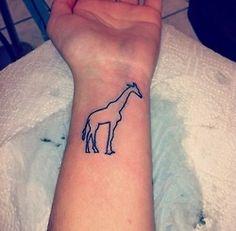 small giraffe tattoo #YouQueen #ink #girly #tattoos