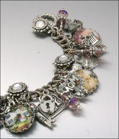 Charm Bracelet, Home Sweet Home, For My Mom, Vintage Inspired Jewelry, Mothers Day