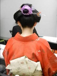 青山華子さん中嶋茂夫さんによるfacebook写真セミナーにて撮っていただきました。@Osaka Nihon-gami ~traditional hairstyle of Japan ~ wearing kimono and obi. 自分で日本髪っぽく結っています。全て地毛です。  →http://ameblo.jp/ann-choo-sun-life/
