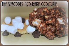 S'Mores No-Bake Cookie Recipe = YUM! #smores #recipes