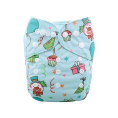 JinoBaby Cloth Diaper with 1 Bamboo Insert - Happy Birthday