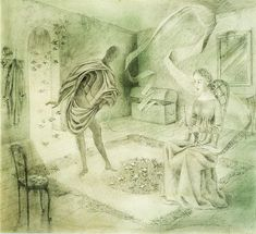 Los Ancestros o Poema, 1956. – Remedios Varo Interesting Drawings, Macabre Art, Outsider Art, Great Pictures, Surreal Art, Mythical Creatures, Max Ernst, Caricature, Magritte