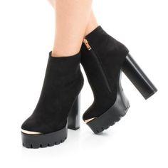 Botine cu platforma catifea si toc inalt gros Booty, Shoes, Fashion, Moda, Swag, Zapatos, Shoes Outlet, Fashion Styles, Fasion