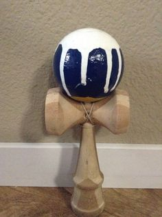 Paint dripping kendama design looks like water dripping down
