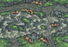 The Riverside Road (Rain), a battle map for D&D / Dungeons & Dragons, Pathfinder, Warhammer and other table top RPGs. Tags: ambush, path, river, road, wilderness, storm, encounter