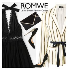 """""""Romwe"""" by dzenanlevic99 ❤ liked on Polyvore featuring Roberto Collina and Cerasella Milano"""