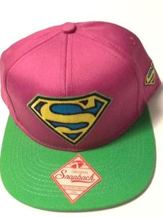 best loved e0250 f2064 Superman Hat Cap Purple Green Snapback DC COMICS COSTUME COSPLAY  Bioworld   BaseballCap
