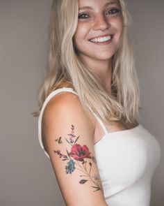 Small Tattoos is always attractive and these also only cover tiny space on the body. These small sizes attract every person and also these t. Beautiful Flower Tattoos, Small Flower Tattoos, Small Girl Tattoos, Baby Tattoos, Pretty Tattoos, Cute Tattoos, Body Art Tattoos, Tatoos, Delicate Tattoos For Women