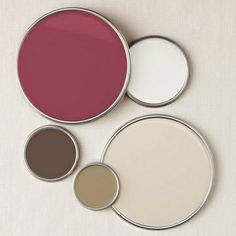 neutrals + raspberry pink love this color palette