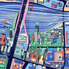 OMA's masterplan for the Pleyel district in Paris. Oma Architecture, Architecture Graphics, Architecture Visualization, Architecture Drawings, Plan Maestro, Olympic Village, Kindergarten Design, Grand Paris, Saint Denis