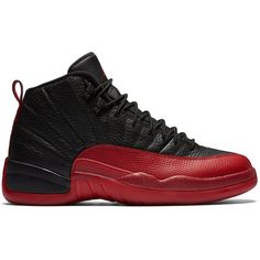 """Air Jordan 12 Retro """"Flu Game"""" (2016) ❤ liked on Polyvore featuring shoes, jordans, sneakers and s h o e s"""