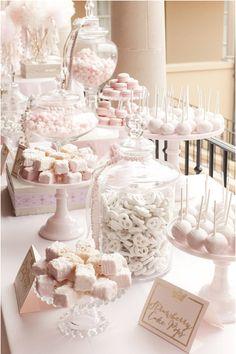 candy bar blanc et rose