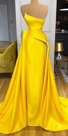 Posh Dresses, Gala Dresses, Event Dresses, Pageant Dresses, Dress Outfits, Fashion Dresses, Formal Dresses, Gowns Of Elegance, Mellow Yellow