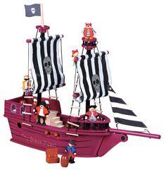 ¡NOVEDAD!BARCO PIRATA DE MADERA CON PIRATAS INCLUIDOS!! ¡Completito! PVP: 64,90 € #barcopiratadejuguete  #piratas http://www.babycaprichos.com/barco-pirata-de-madera-con-piratas.html