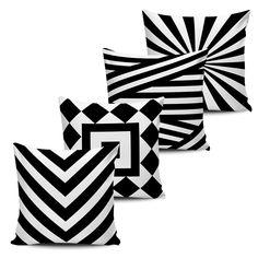 Conjunto 4 Almofadas Geométricas BLACK-11