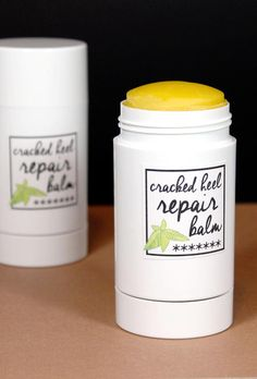 This cracked heel repair balm recipe contains all natural ingredients that help to heal and protect cracked heels and feet. It's also great for hands, elbows, knees and lips - pretty much anywhere your skin needs some extra love! Plus free printable labels for your finished cracked heel repair balm.