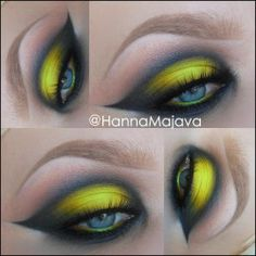 """Neon Yellow"" by Hannahmajava using the Makeup Geek Corrupt, Creme Brûlée, Vanilla Bean, Peach Smoothie, and Lemon Drop eyeshadows!"