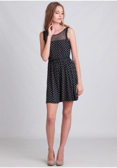 It's A Surprise Polka Dot Dress | Modern Vintage Clothing | Ruche